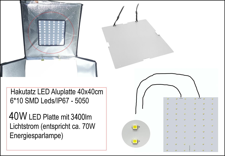 LED Aluplatte